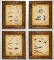 Four Fly Fishing Lures Art Prints