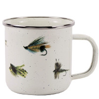 Mug with Fishing Fly Pattern