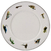 Sandwich Plate with Fishing Fly Pattern